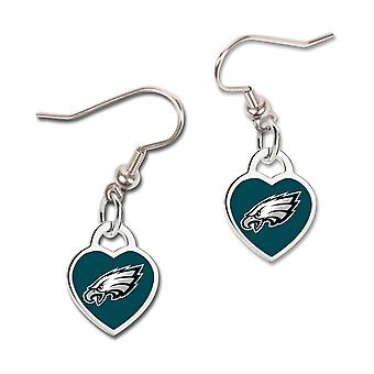 Wincraft ladies 3D heart earrings - NFL Philadelphia Eagles