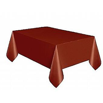 SALE -  Plastic Tablecover - Brown (137cm x 274cm)