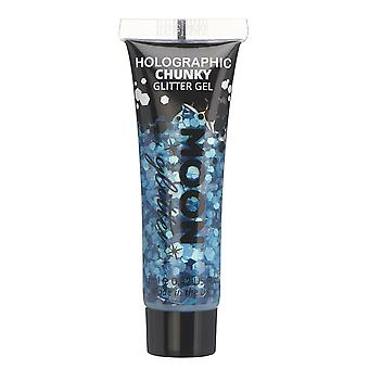 Holographic Chunky Face & Body Glitter Gel by Moon Glitter - 12ml - Blue - Glitter Face Paint