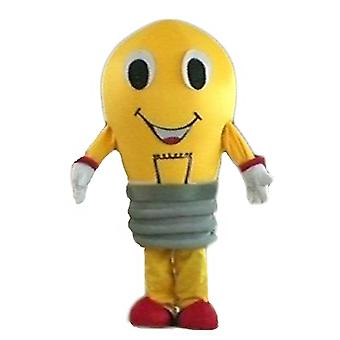 mascot SPOTSOUND of yellow and red, giant bulb