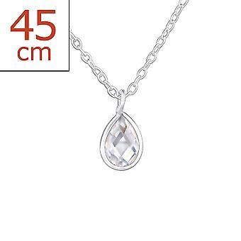 Teardrop - jeweled 925 Sterling Silber Ketten - W27926x