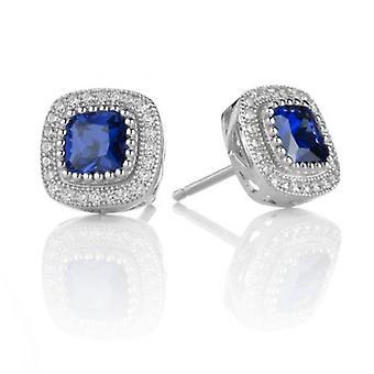 Cavendish Französisch Sapphire Blue Beauty-Ohrringe
