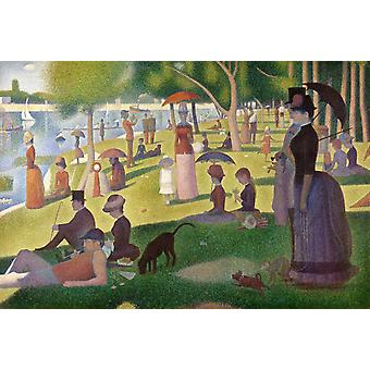 Sunday Afternoon of the Iceland of La, Georges Seurat, 40x60cm with tray