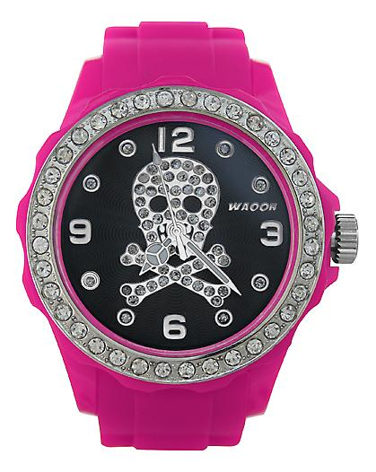 Waooh - FC38 Watch with Black Dial Death's Head Strass 2