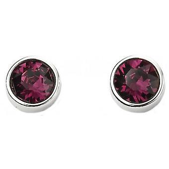 Début février Swarovski Birthstone boucles d'oreilles - argent/violet