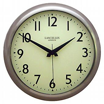 Roger Lacelles Deco Lars Wall Clock Chrome