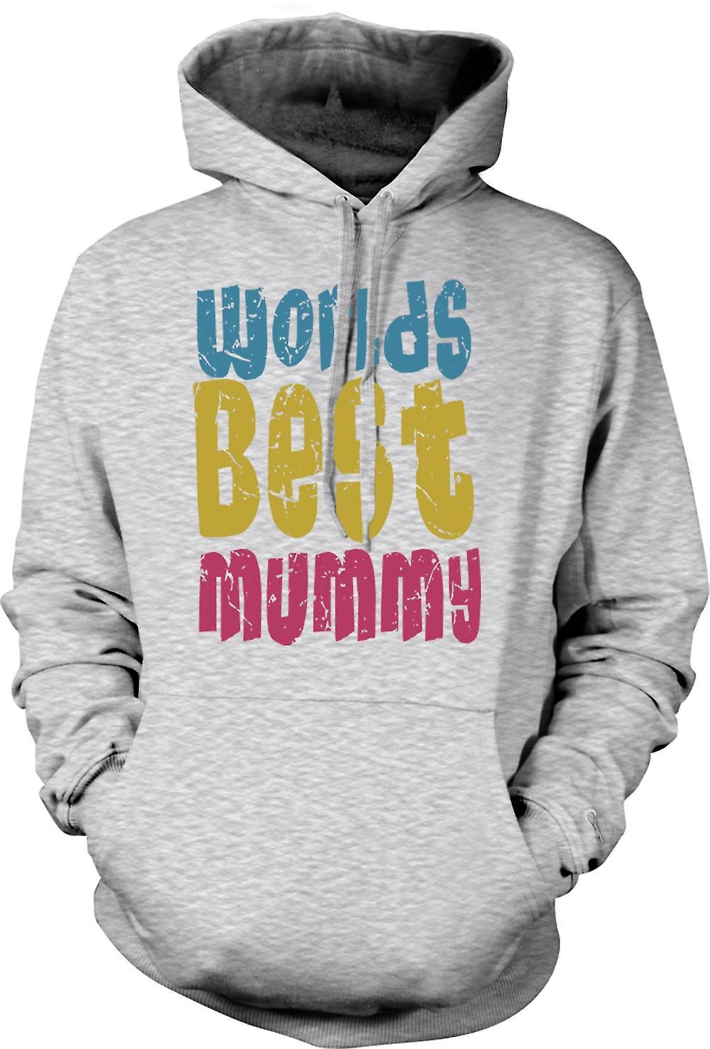 Mens-Hoodie - Worlds Best Mamy - lustig