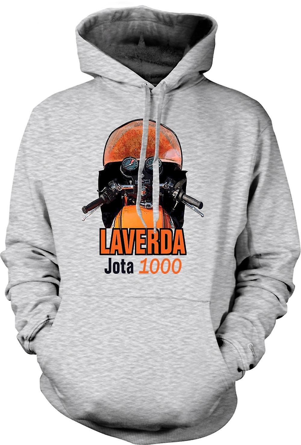 Mens Hoodie - moto d'epoca Laverda Jota 1000
