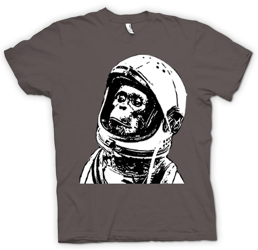Mens T-shirt - Space Monkey Black & White Drawing
