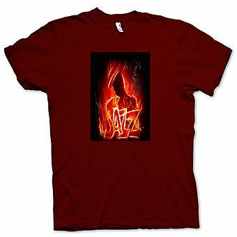Mens T-shirt - Neon Jazz Design