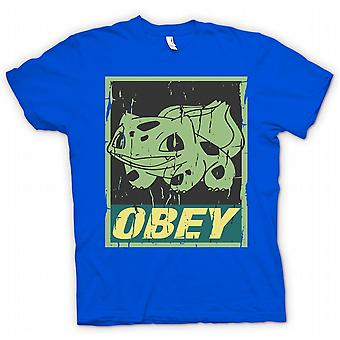 Bulbasaur Obey - Cool Pokemon Inspired T Shirt