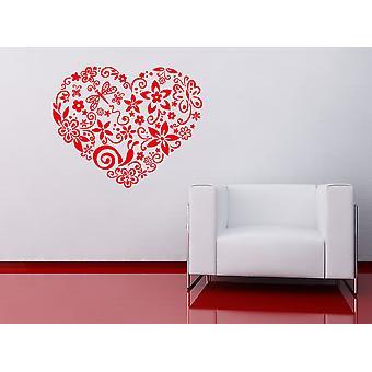 Blooming Heart Wall Sticker
