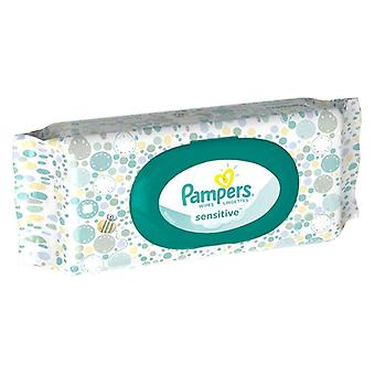 Pampers sensitive baby wipes, travel size, 56 ea