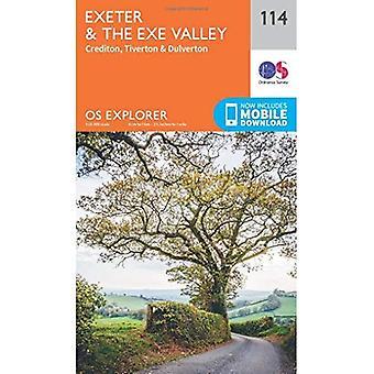 OS Explorer kaart (114) Exeter en de Exe-vallei