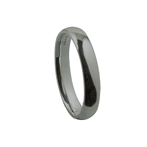 Platinum 4mm plain Court shaped Wedding Ring Size Z
