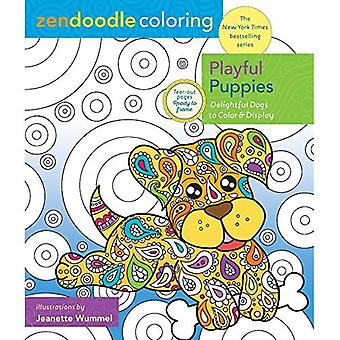 Zendoodle Coloring: Playful Puppies: Delightful Dogs to� Color and Display