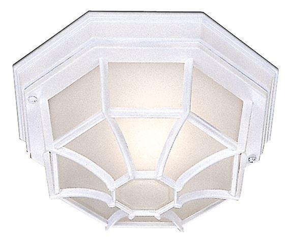 Blanc Hexagonal de plein air Flush Ceiling lumière - Searchlumière 2942WH