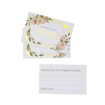 Geo Floral - Wedding Advice Cards - 25 Pack