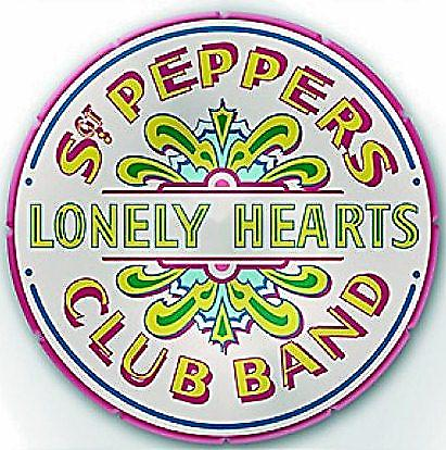 Beatles Sgt. Pepper Drum design large shaped rubber fridge magnet (ro)