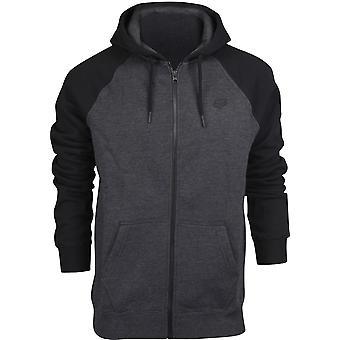Fox Racing Mens Legacy Zip Fleece Hoodie - Black/Charcoal