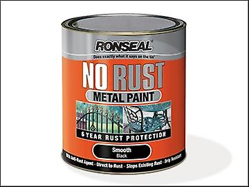 Ronseal No Rust Metal Paint Smooth Black 750ml