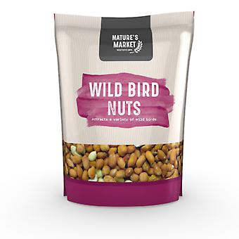 Natures Market 1kg (2.2 lbs) Bag of Peanuts / Nuts Feed Wild Bird Food