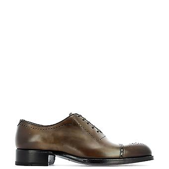 Tom Ford Brown Leather Lace-up Shoes