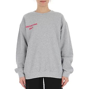 Semi-couture Margherita Grey Cotton Sweatshirt