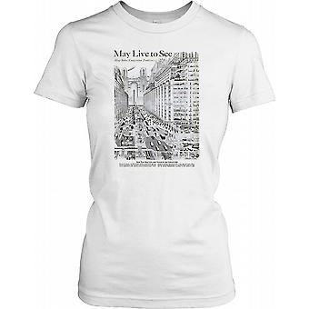 1950s Future City - Cool Retro Sci Fi Ladies T Shirt