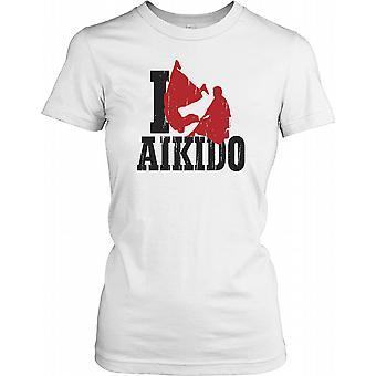 I Aikido - Martial Arts Ladies T Shirt