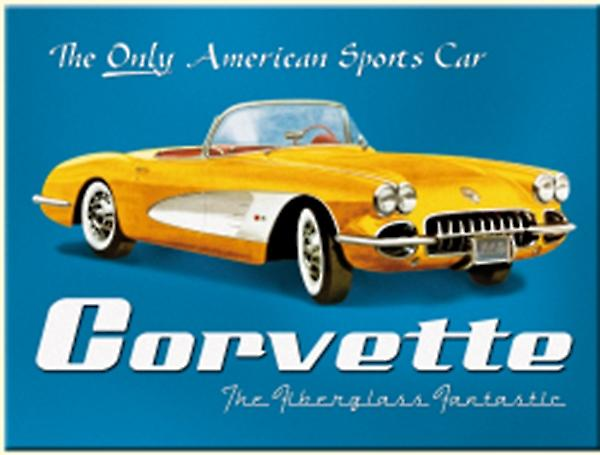 Chevrolet Corvette America's Only... steel fridge magnet  (na)