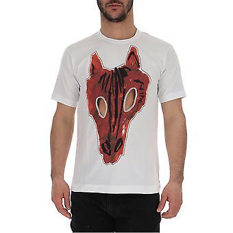 Comme Des Garçons White/red Cotton T-shirt