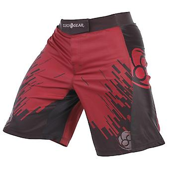 Clinch Gear Mens Flex 2 Amped MMA BJJ brottning kamp Shorts - röd