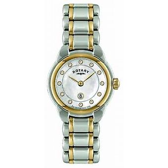 Rotary Ladies Two Tone Bracelet LB02602/41L Watch