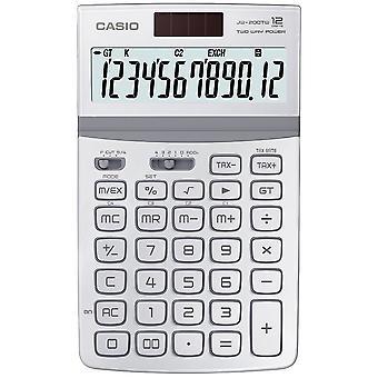 Casio Solar-Powered 12 Digit Disk Calculator mit Tilt Display White JW-200TW-WE