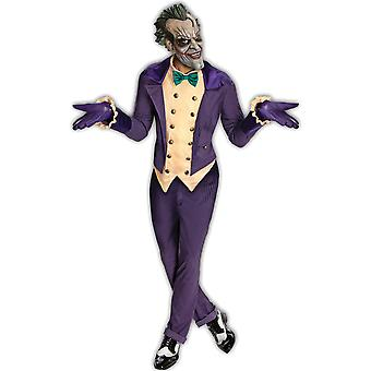 Joker Deluxe Supervillain Villian Batman Arkham City Clown Mens Costume STD