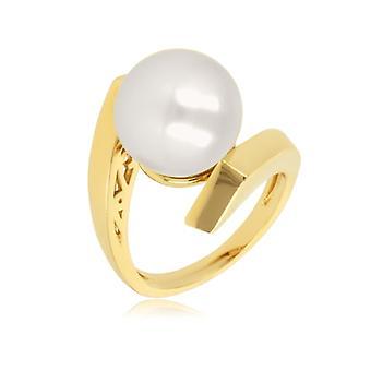 Guldpläterad ring med Mallorca pärla 12mm