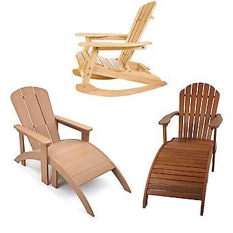 Garten & Patio Outdoor Adirondack Design Stühle, Schaukelstuhl und Sonnenliegen