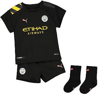 Puma Manchester City 2019/20 Kleinkind Kinder Baby Weg Fußball Kit schwarz
