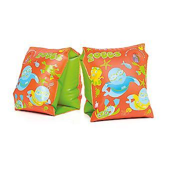 Zoggs zwembanden Zoggy opblaasbare oranje/groen-3-12 maanden/0-11 kg