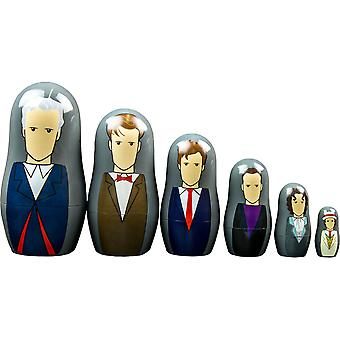 Doctor Who Seventh-Twelfth Doctor Nesting Doll Set
