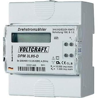 Electricity meter (3-phase) digital 85 A MID-approved: No VOLTCRAFT DPM 3L85-D