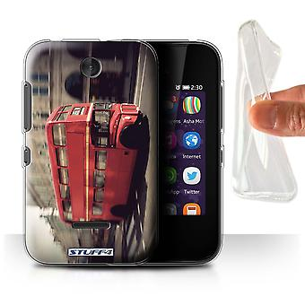 STUFF4 Gel/TPU Case/Cover for Nokia Asha 230/Red Bus/London England