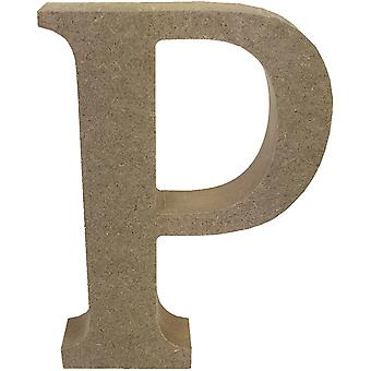 Smooth MDF Blank Shape-Serif Letter P TCMDF026