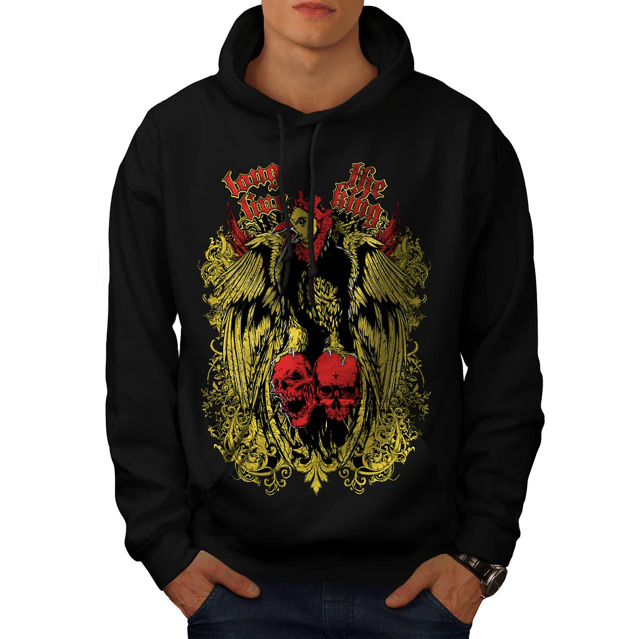 Long Live King Bird Giant Eagle Men Black Hoodie | Wellcoda