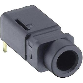3.5 mm audio jack Socket, horizontal mount Number of pins: 4 Stereo Black Lumberg 1503 16 1 pc(s)