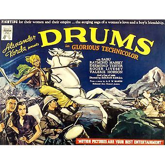 Drums Valerie Hobson Sabu 1938 Movie Poster Masterprint
