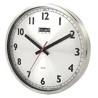 Balance Wall Clock 30 Cm Analogue Silver (Heim , Dekoration , Uhren)