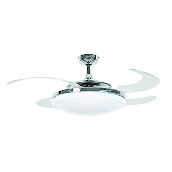 "Ceiling Fan Fanaway Evo2 Endure Chrome 122 cm / 48"" with retractable blades"