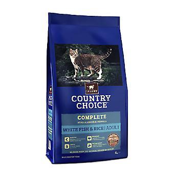 Gelert land valg kat hvid fisk & ris 4kg X1
